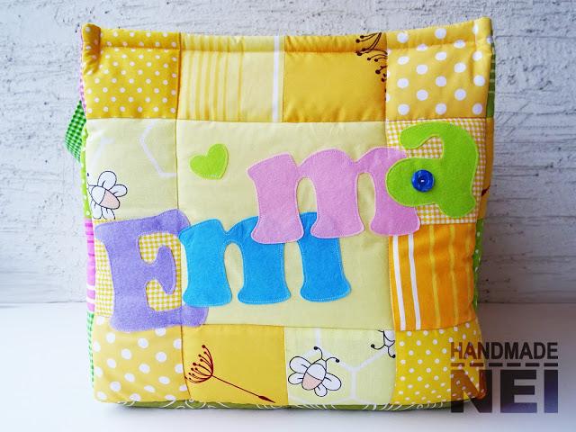 """Кош за играчки от плат """"Емма"""" - Handmade Nel"""