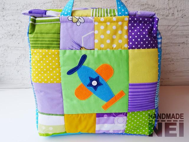 """Кош за играчки от плат """"Филип"""" - Handmade Nel"""