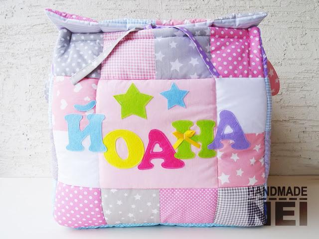 """Кош за играчки от плат """"Йоана""""2 - Handmade Nel"""