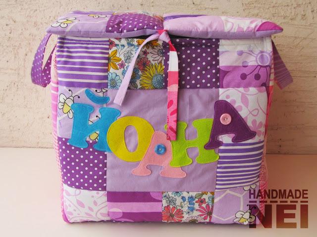 """Кош за играчки от плат """"Йоана"""" - Handmade Nel"""