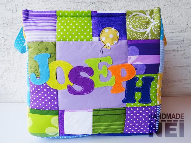 "Кош за играчки от плат ""Joseph"" - Handmade Nel"