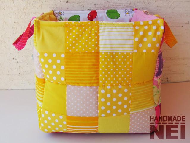 """Кош за играчки от плат """"Карина"""" - Handmade Nel"""