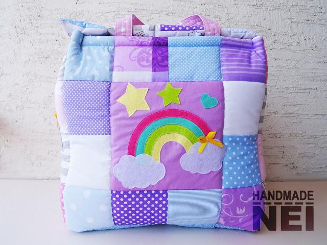 """Кош за играчки от плат """"Карина""""2 - Handmade Nel"""