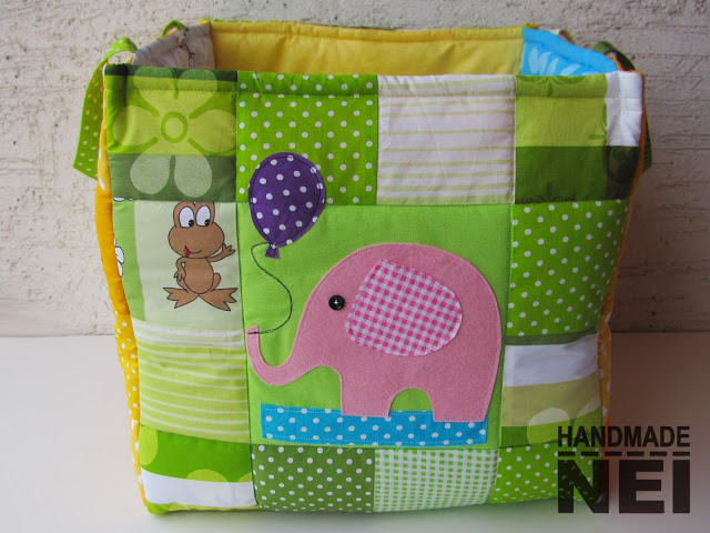 """Кош за играчки от плат """"Крисчи"""" - Handmade Nel"""