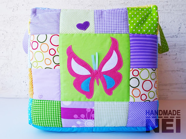 """Кош за играчки от плат """"Крисия"""" - Handmade Nel"""