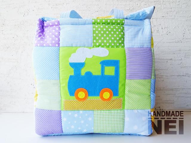 "Кош за играчки от плат ""Кристиан"" - Handmade Nel"