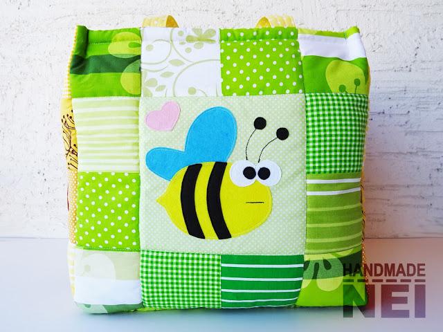 "Кош за играчки от плат ""Леда"" - Handmade Nel"