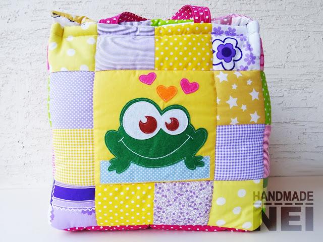"""Кош за играчки от плат """"Мариана"""" - Handmade Nel"""