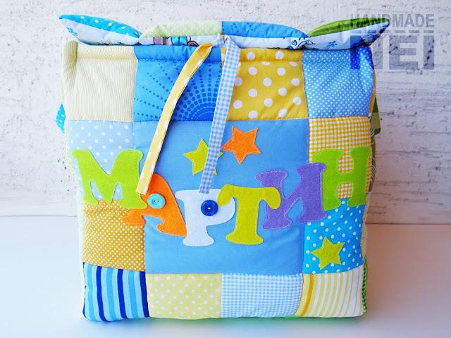 """Кош за играчки от плат """"Мартин"""" - Handmade Nel"""