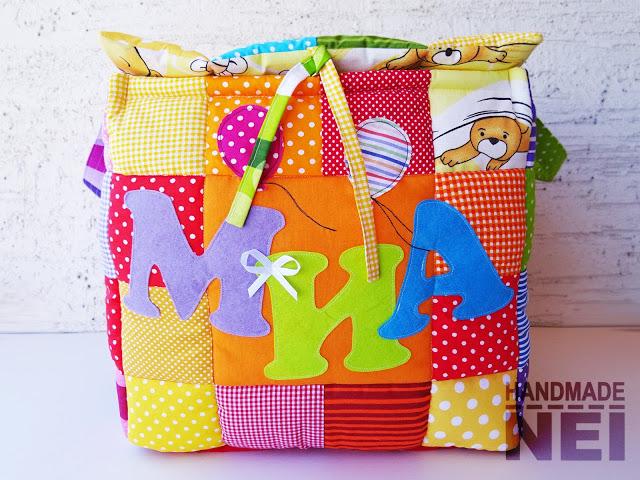 """Кош за играчки от плат """"Миа"""" - Handmade Nel"""