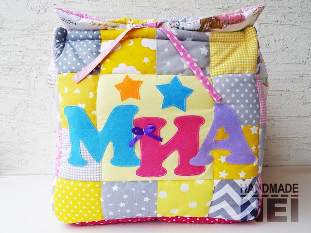 """Кош за играчки от плат """"Миа""""2 - Handmade Nel"""