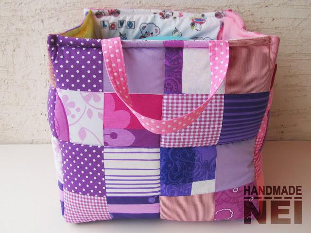 """Кош за играчки от плат """"Мина"""" - Handmade Nel"""
