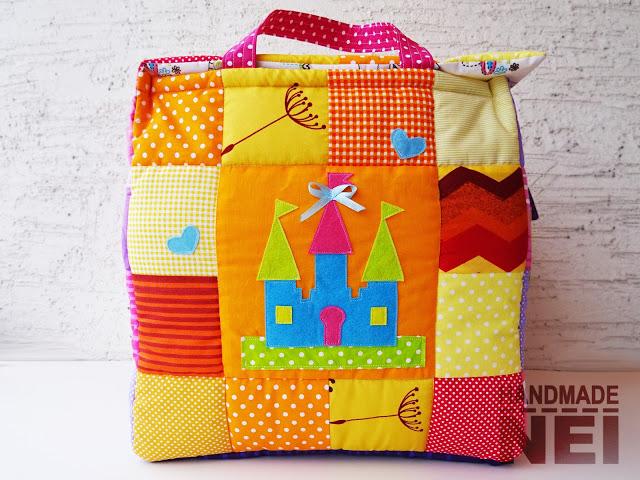 """Кош за играчки от плат """"Мишел"""" - Handmade Nel"""