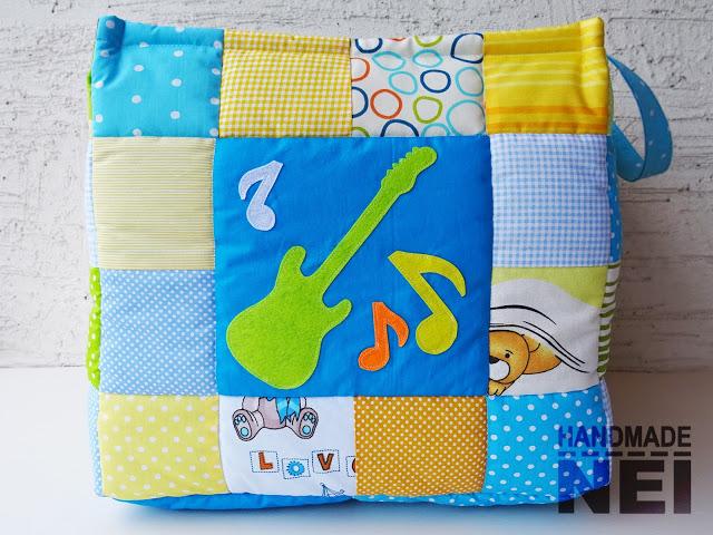 """Кош за играчки от плат """"Оги"""" - Handmade Nel"""