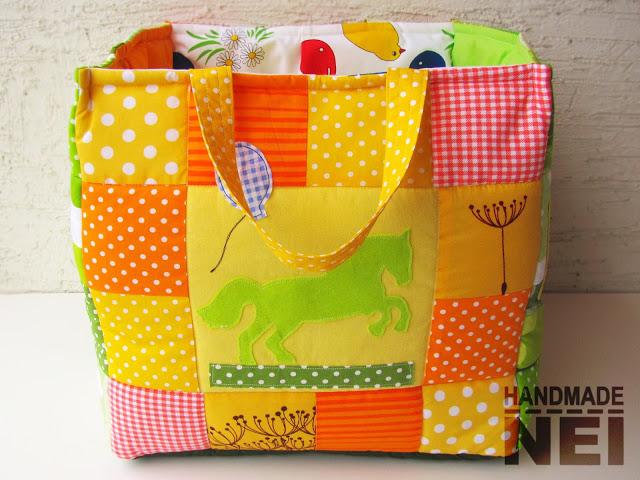 """Кош за играчки от плат """"Пепи"""" - Handmade Nel"""