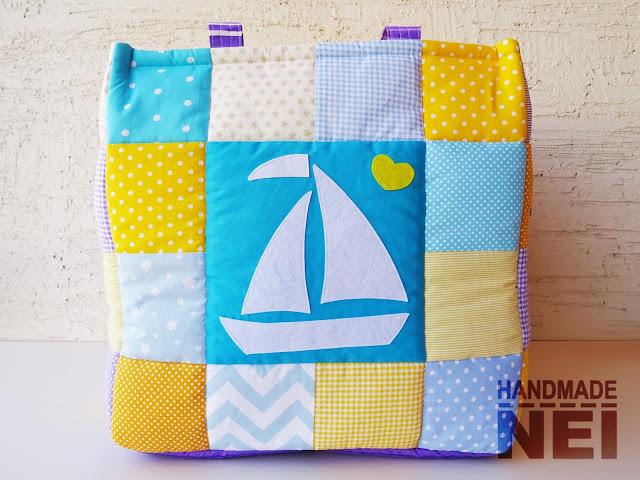 """Кош за играчки от плат """"Радея"""" - Handmade Nel"""