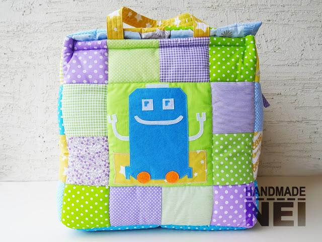 """Кош за играчки от плат """"Ради"""" - Handmade Nel"""