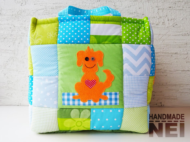 "Кош за играчки от плат ""Roman"" - Handmade Nel"