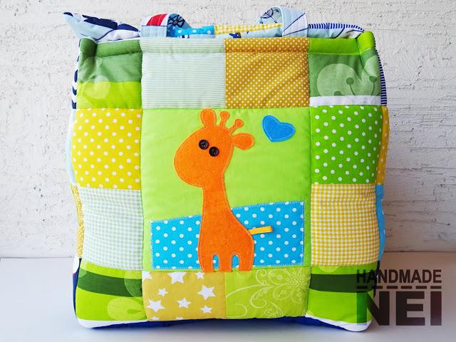 """Кош за играчки от плат """"Самуил""""3 - Handmade Nel"""