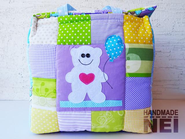"""Кош за играчки от плат """"Симеон""""2 - Handmade Nel"""