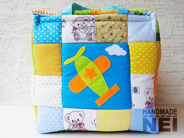 """Кош за играчки от плат """"Тео""""3 - Handmade Nel"""