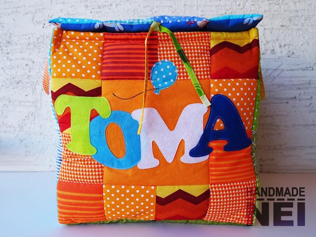 """Кош за играчки от плат """"Тома"""" - Handmade Nel"""