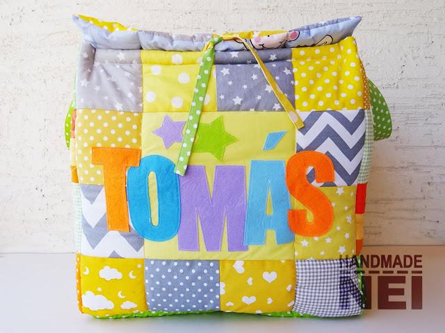 """Кош за играчки от плат """"Tomas"""" - Handmade Nel"""