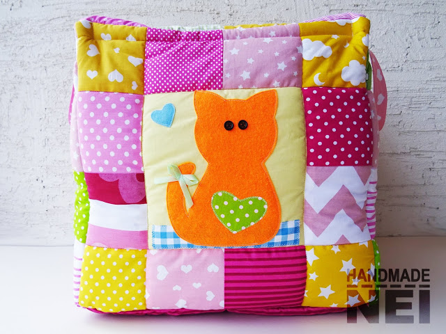 "Кош за играчки от плат ""Цвети"" - Handmade Nel"