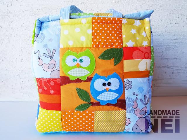 """Кош за играчки от плат """"Виктор""""2 - Handmade Nel"""
