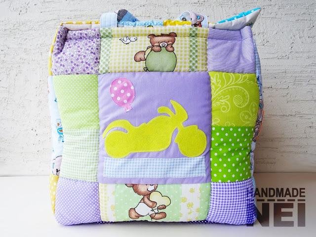 "Кош за играчки от плат ""Влади"" - Handmade Nel"