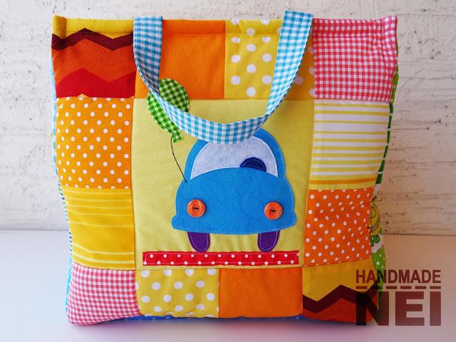 """Кош за играчки от плат """"Захари"""" - Handmade Nel"""