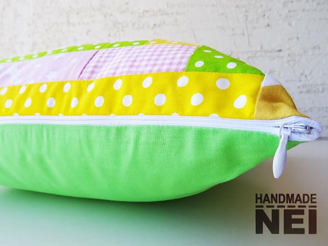 """Пачуърк калъфка за възглавница """"Слънчево""""3 - Handmade Nel"""