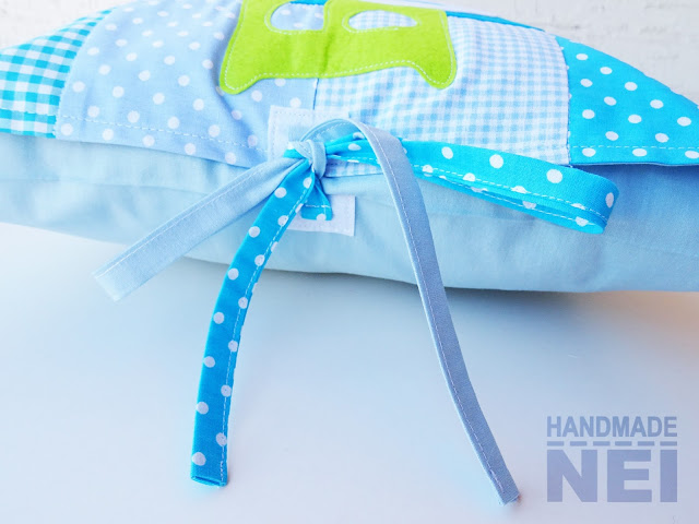 "Пачуърк калъфка за възглавница ""Боги"" - Handmade Nel"