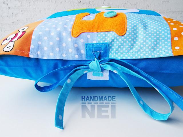"Пачуърк калъфка за възглавница ""Борис"" - Handmade Nel"