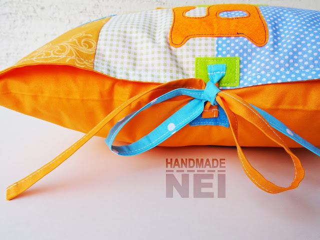 "Пачуърк калъфка за възглавница ""Борис""2 - Handmade Nel"