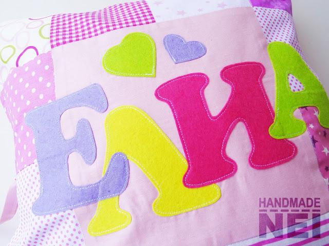 """Пачуърк калъфка за възглавница """"Елиа"""" - Handmade Nel"""