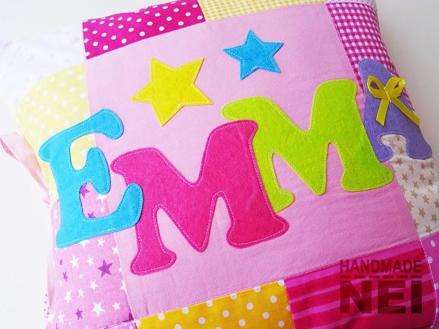 """Пачуърк калъфка за възглавница """"Емма"""" - Handmade Nel"""