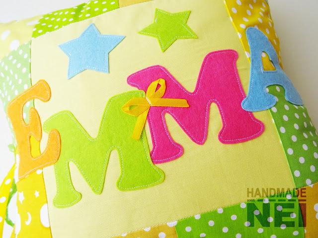 """Пачуърк калъфка за възглавница """"Емма""""2 - Handmade Nel"""