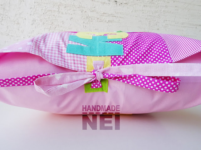 "Пачуърк калъфка за възглавница ""Изабелла"" - Handmade Nel"