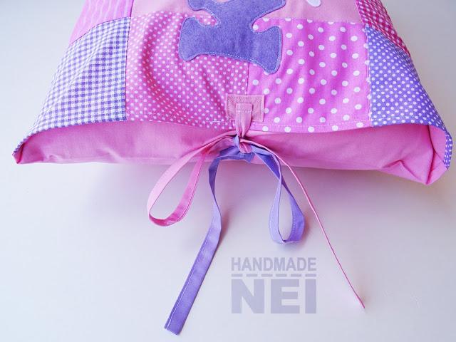 "Пачуърк калъфка за възглавница ""Кари"" - Handmade Nel"
