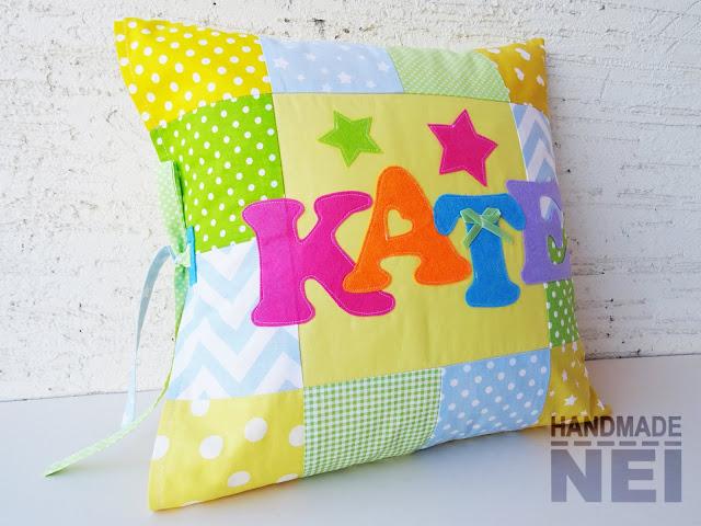 """Пачуърк калъфка за възглавница """"Кате"""" - Handmade Nel"""