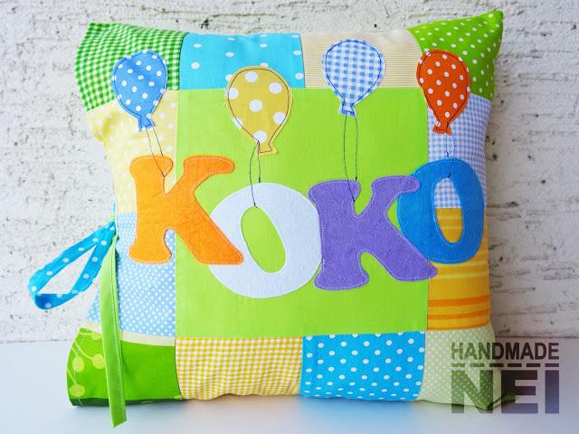 """Пачуърк калъфка за възглавница """"Коко"""" - Handmade Nel"""
