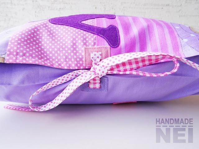 """Пачуърк калъфка за възглавница """"Лили"""" - Handmade Nel"""