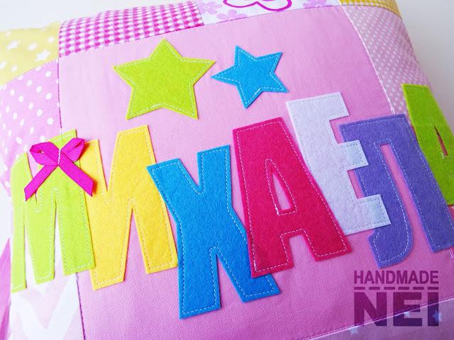 """Пачуърк калъфка за възглавница """"Михаела"""" - Handmade Nel"""