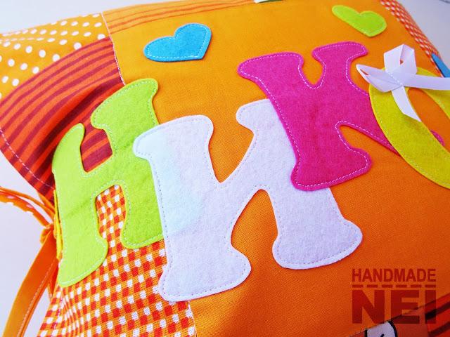 "Пачуърк калъфка за възглавница ""Никол"" - Handmade Nel"