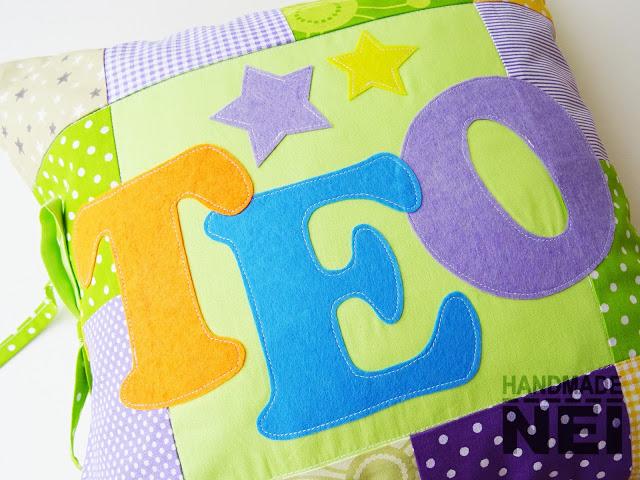 """Пачуърк калъфка за възглавница """"Тео"""" - Handmade Nel"""