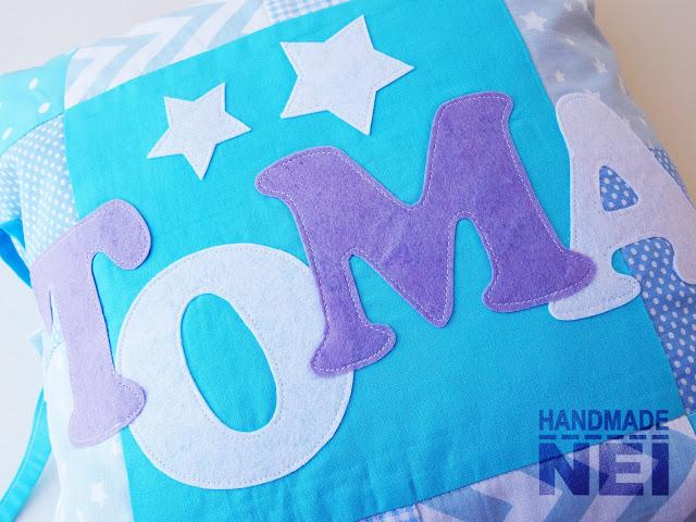 """Пачуърк калъфка за възглавница """"Тома"""" - Handmade Nel"""
