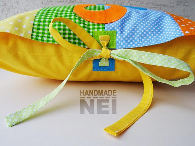 "Пачуърк калъфка за възглавница ""Сашко"" - Handmade Nel"