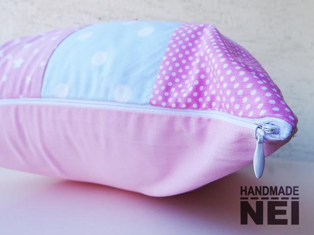 """Пачуърк калъфка за възглавница """"Плами"""" - Handmade Nel"""