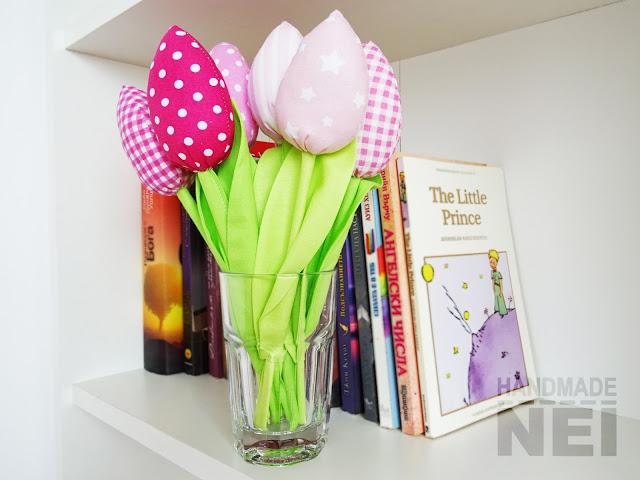 Розови лалета от плат